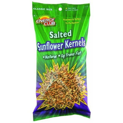 Energy Club Sunflower Kernels, Roasted & Salted, 6.25-Ounce Bags (Pack of 6)