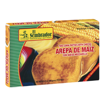 El Sembrador Two Corn Patties With Cheese - 2 CT