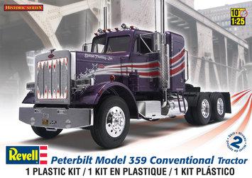 Revell Peterbilt 359 Contentional Tractor Plastic Model Kit, 1:25