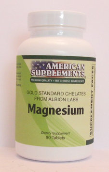 Magnesium Albion Chelates No Chinese Ingredients American Supplements 90 Caps