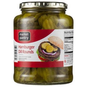 Market Pantry Hamburger Dill Pickle Chips - 32 oz.