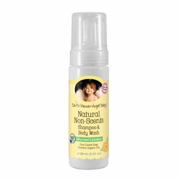 Earth Mama Angel Baby Shampoo and Body Wash Organic Unscented