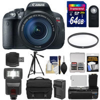 Canon EOS Rebel T5i Digital SLR Camera & EF-S 18-135mm IS STM Lens with 64GB Card + Flash + Grip + Battery & Charger + Tripod + Case + Filter + Kit