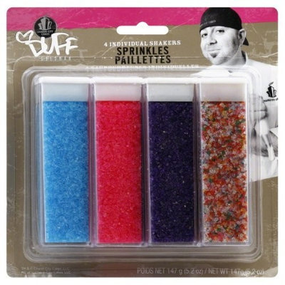 Duff Decorating Sprinkles Brights, 4 pack, 5.2-Ounce