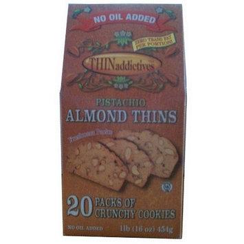 Thin Addictives Pistachio Almond Thins Crunchy Cookies