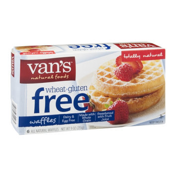 Van's Natural Foods Waffles Wheat - Gluten Free - 6 CT