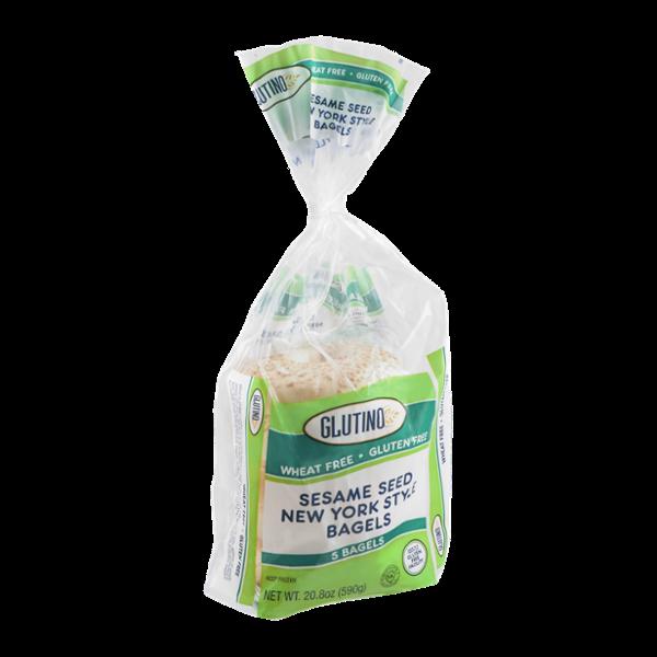 Glutino Wheat & Gluten Free Sesame Seed New York Style Bagels