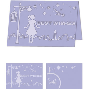Craftwell eBosser Embossing Folders A4 Size-Whimsical Wishes