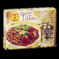 Deep Healthy Tiffin Kofta Curry Chhole Spinach Basmati Pilaf