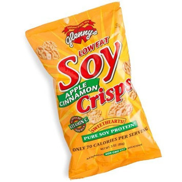 Glenny's Low Fat Soy Crisps, Apple Cinnamon, 3-Ounce Bags (Pack of 12)