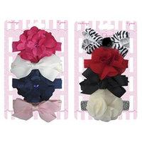 Shalom International So'dorable Infant Toddler Girls' 4-Count Flower/Bow Headwrap