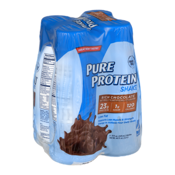 Pure Protein Shake Bottles Rich Chocolate - 4 CT