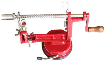 U.s. Gold Cook N Home Apple and Potato Peeler/Corer with Suction Base, Red
