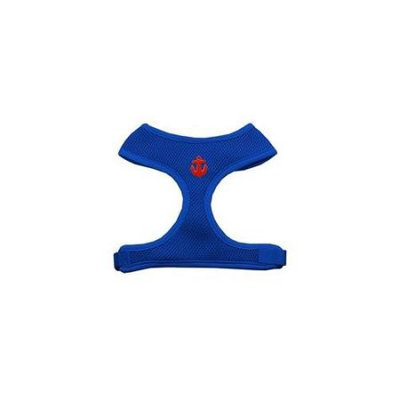 Mirage Pet Products 73-15 MDBL Red Anchors Chipper Blue Harness Medium