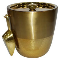 Threshold Gold Finish Ice Bucket