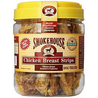 Smokehouse 100-Percent Natural Chicken Breast Strips Dog Treats, 1-Pound