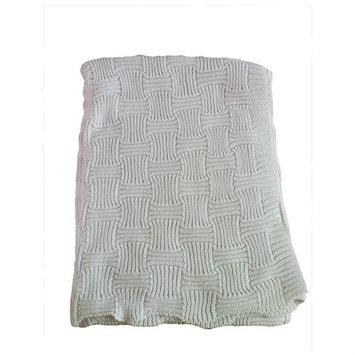 Koala Baby Basket Weave Blanket-White