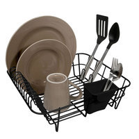 Hms Manufacturing Home Logic Black Small Dish Drainer - HMS MFG. CO.