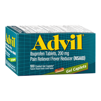 Advil Ibuprofen Tablets 200 mg Gel Caplets - 100 CT