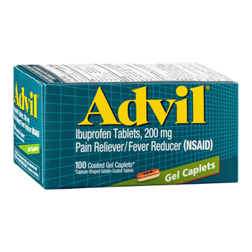 Advil Ibuprofen Tablets 200 mg Gel Caplets - 100 CT