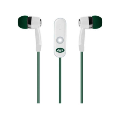 New York Jets Earbuds with Microphone
