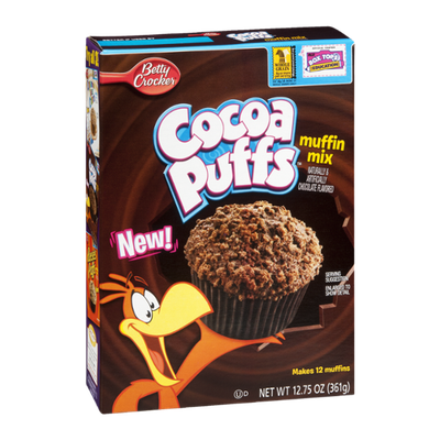 Betty Crooker Cocoa Puffs Muffin Mix