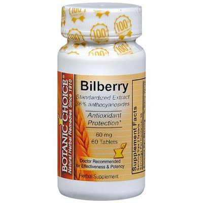 Botanic Choice Bilberry 60 mg Dietary Supplement Tablets
