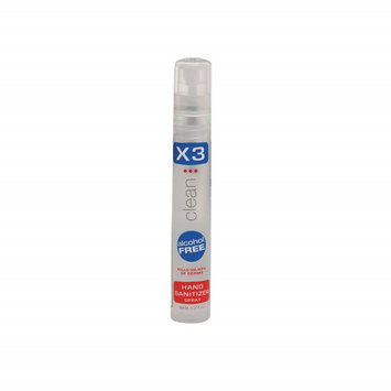 X3 Clean Hand Sanitizer (Size 0.27 oz, Spray). Model: 10009