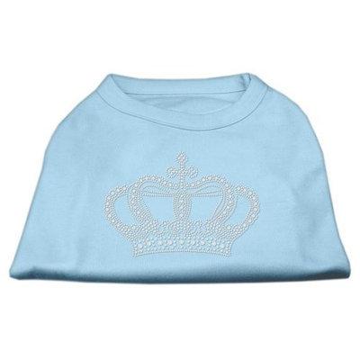 Mirage Pet Products 5223 XSBBL Rhinestone Crown Shirts Baby Blue XS 8