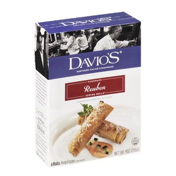 Davio's Handmade Reuben Spring Rolls - 6 CT