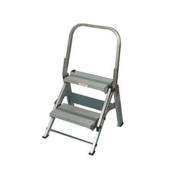 Core Distribution Step Stool: Silver Xtend and Climb Extra Wide 2-Step Stool