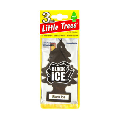 Little Trees 3-pak Black Ice Car Freshener