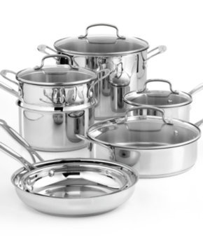 Cuisinart Chef's Classic Stainless Steel 11-pc. Cookware Set