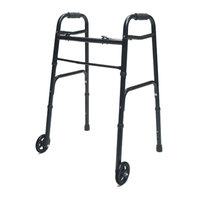 Lumex Adult Folding Walker with Wheels