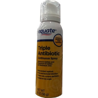 Equate Triple Antibiotic Continuous Spray 2oz Compare to Neosporin