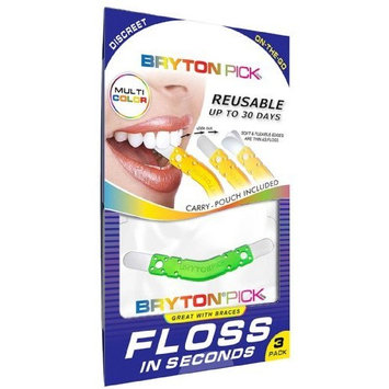 BRYTONPick -3 Pack INTERDENTAL CLEANER - Great for use with Braces & Invisalign! Also Available in 10 & 20 Packs