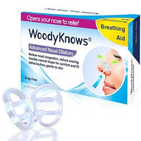 WoodyKnows ® Anti Snoring Invisible Nasal Dilators, Stop Snoring Solutions, Breathing Aid, Prevent Sleep Apnea, Snore Reducing Aids, Natural Sleep Device, Breathe Easy Strips, Instant Snore Relief 2-Count (Medium)