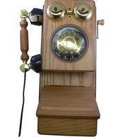 Golden Eagle Novelty GOLD-GEE-8705K Novelty Country Wood Phone Oak