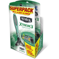 Schick Men's Xtreme3 Sensitive Razor Superpack, (Pack of 8)
