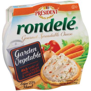 Rondele by President Garden Vegetable Gourmet Spreadable Cheese, 8 oz