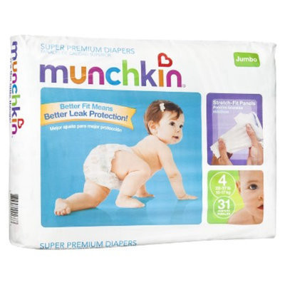 Munchkin Super Premium Diapers Jumbo Pack - Size 4 (31 Count)