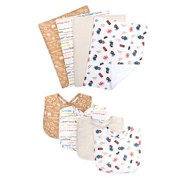 Trend Lab Llc Trend Lab Paddington Bear Bouquet 4 Piece Bib and 4 Piece Burp Cloth Set