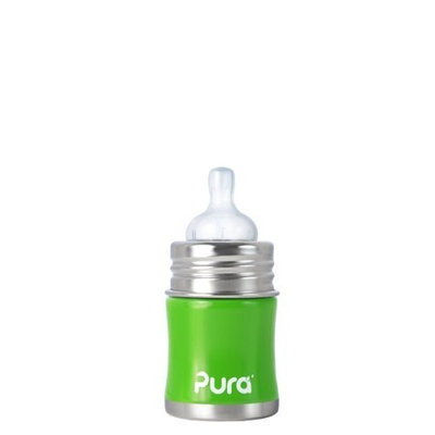 Pura Stainless Kiki Infant Bottle Stainless Steel, 5 Ounce, Spring Green (Discontinued by Manufacturer)