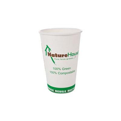 NatureHouse Compostable Paper/PLA Cup 10oz White 1000/Carton (NatureHouse NAHC010)