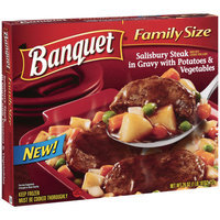 Banquet Family Size Salisbury Steak In Gravy With Potatoes & Vegetables, 26 oz
