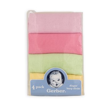 Gerber Childrenswear Inc Infant's 4-Pack Diaper & Burp Cloths - Solid Variety Pack