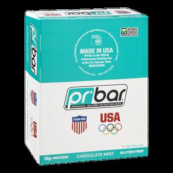 PR Bar Personal Record Nutritional Bar Chocolate Mint - Gluten Free -12 Bars