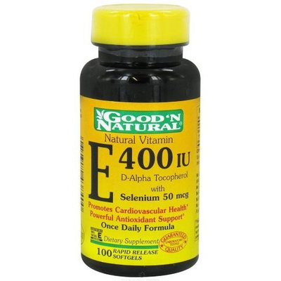Good'n Natural Good 'N Natural - Vitamin E With Selenium 400 IU - 100 Softgels