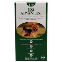 K9 Advantix Flea Control For Dogs, 0-10 lbs Green, 4 Month
