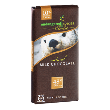 Endangered Species Chocolate Milk Chocolate Bar Natural - Otter